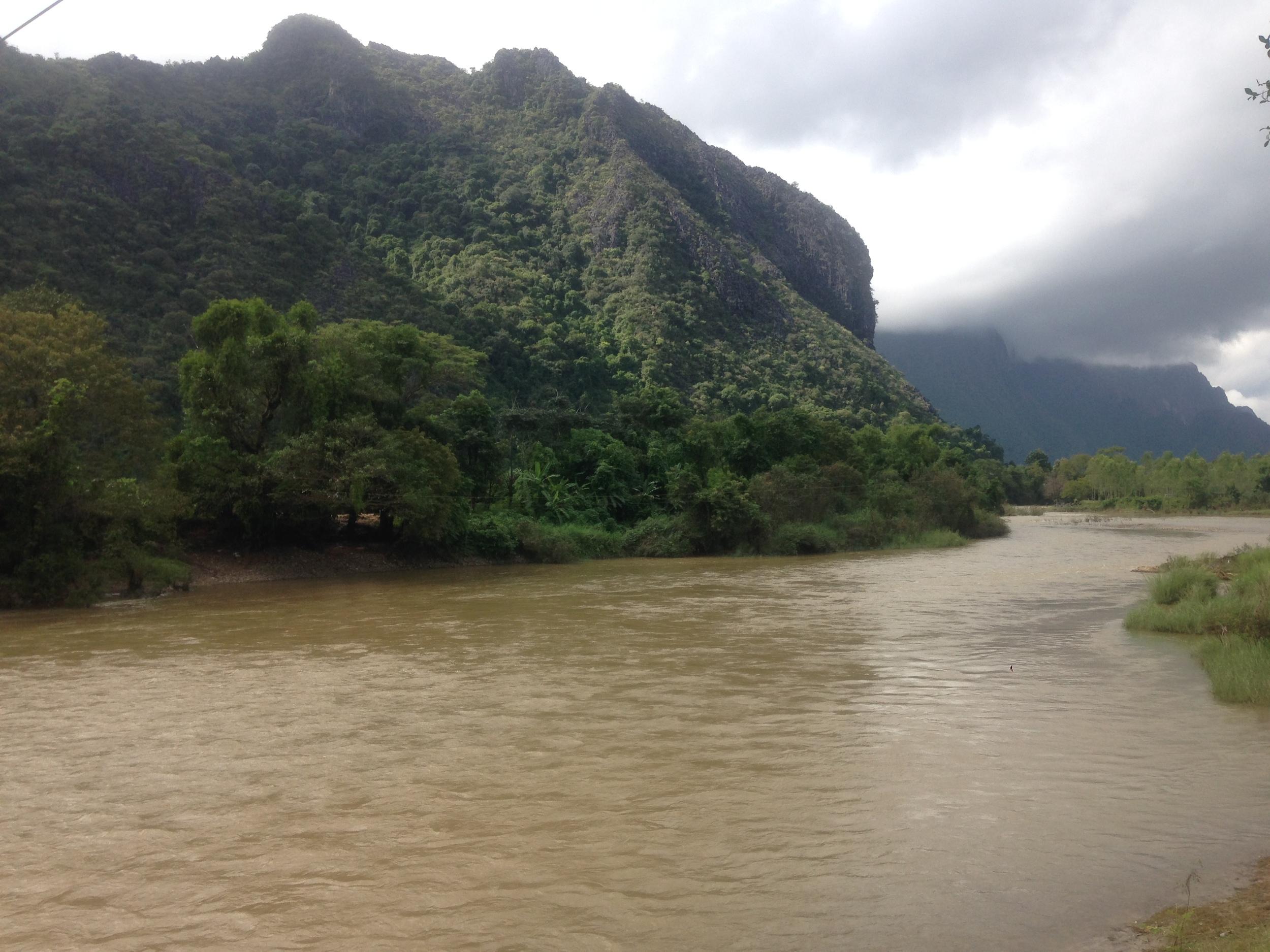 The Mekong in Vang Vieng