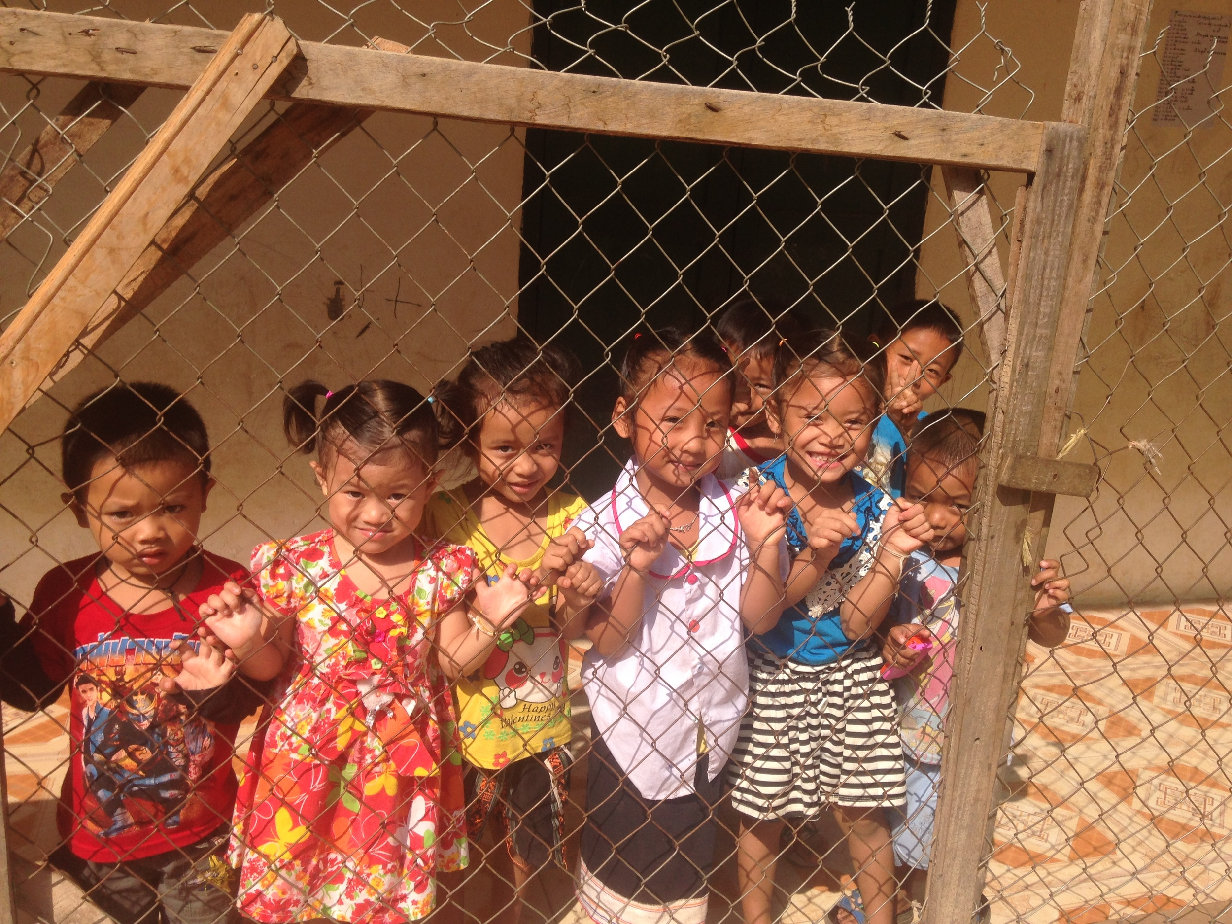 Children at a school or daycare in Muang Khua