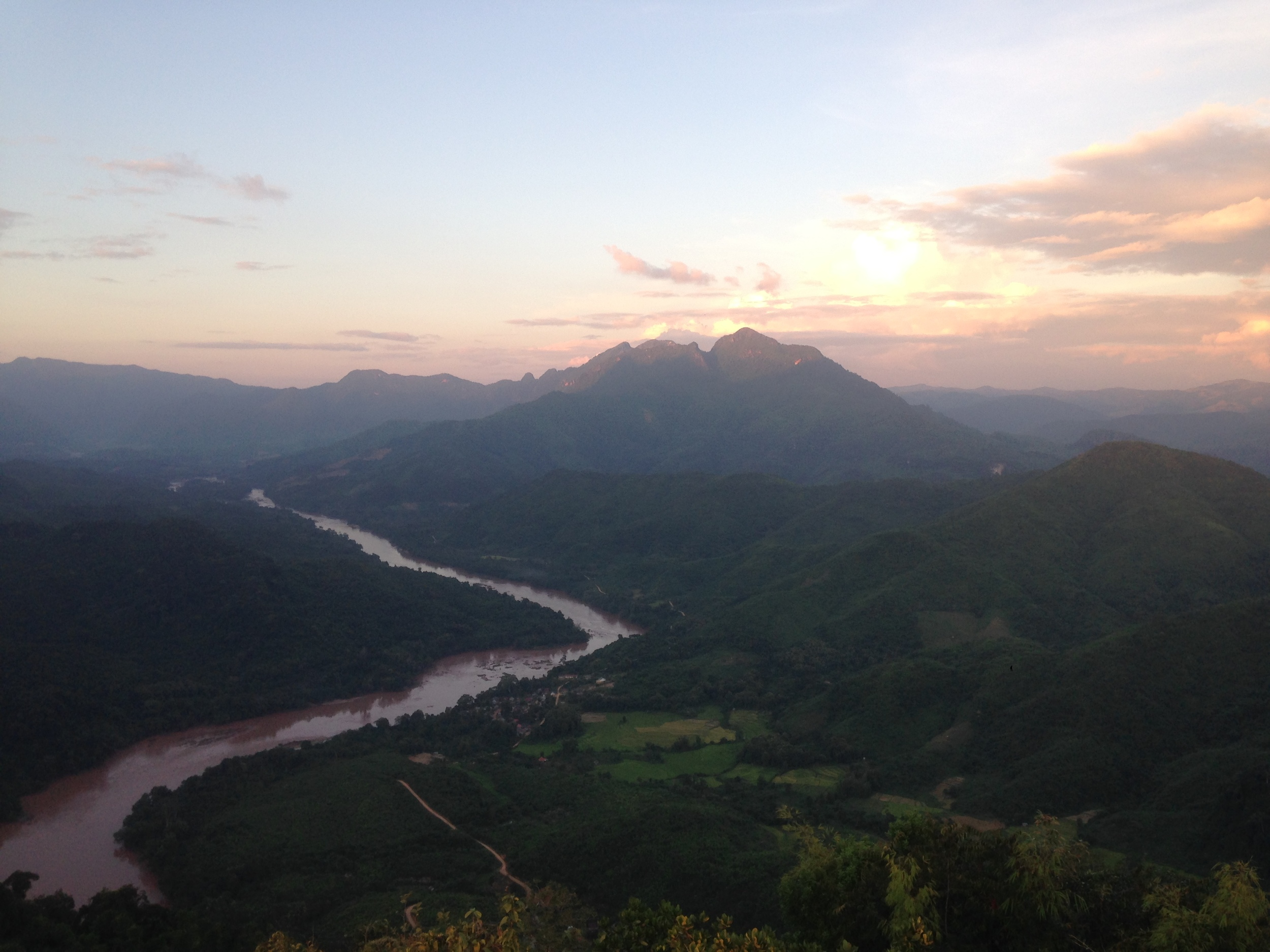 The view from The Viewpoint in Nong Khiaw