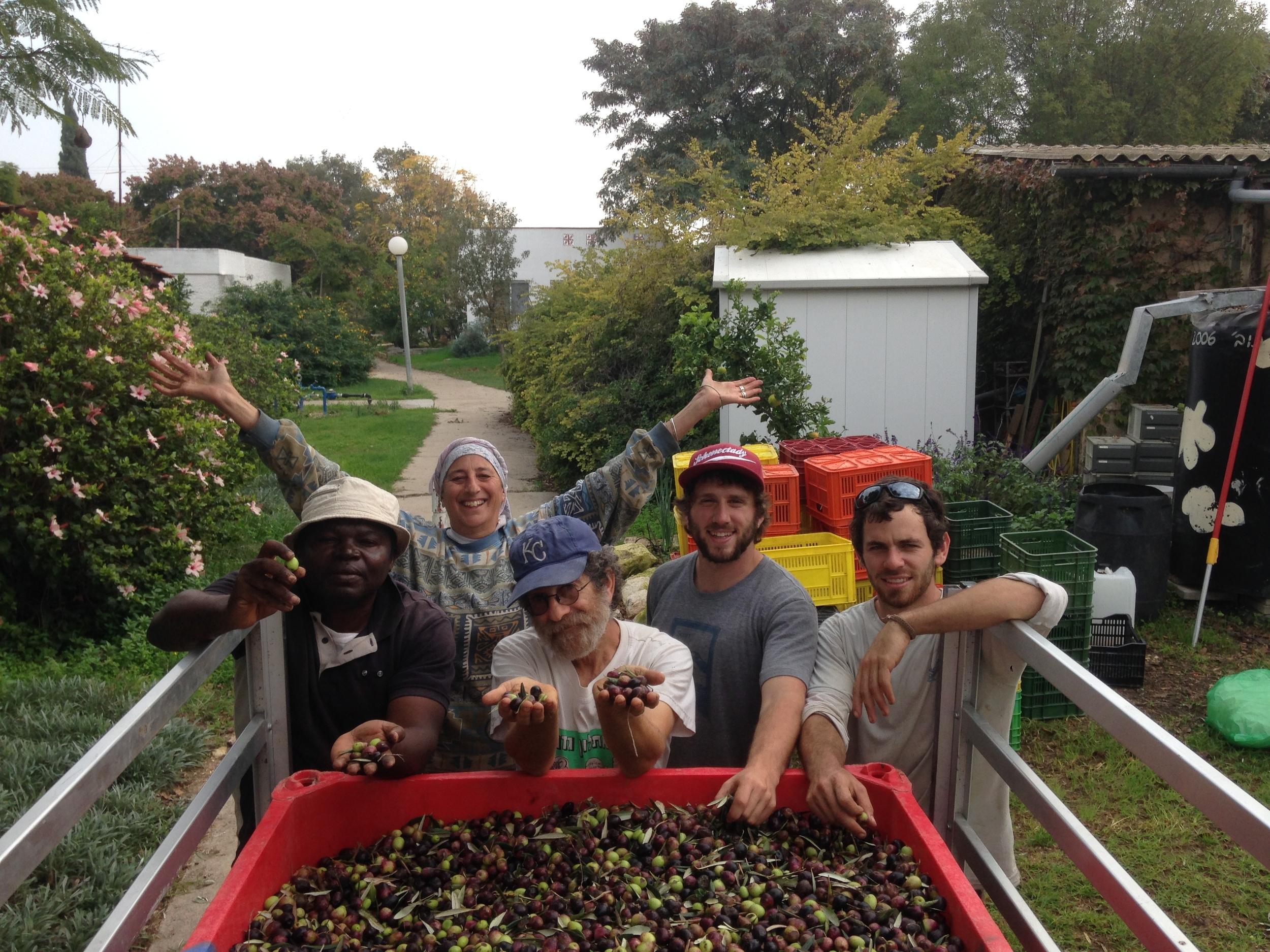 My work family on Kibbutz Gezer in Israel