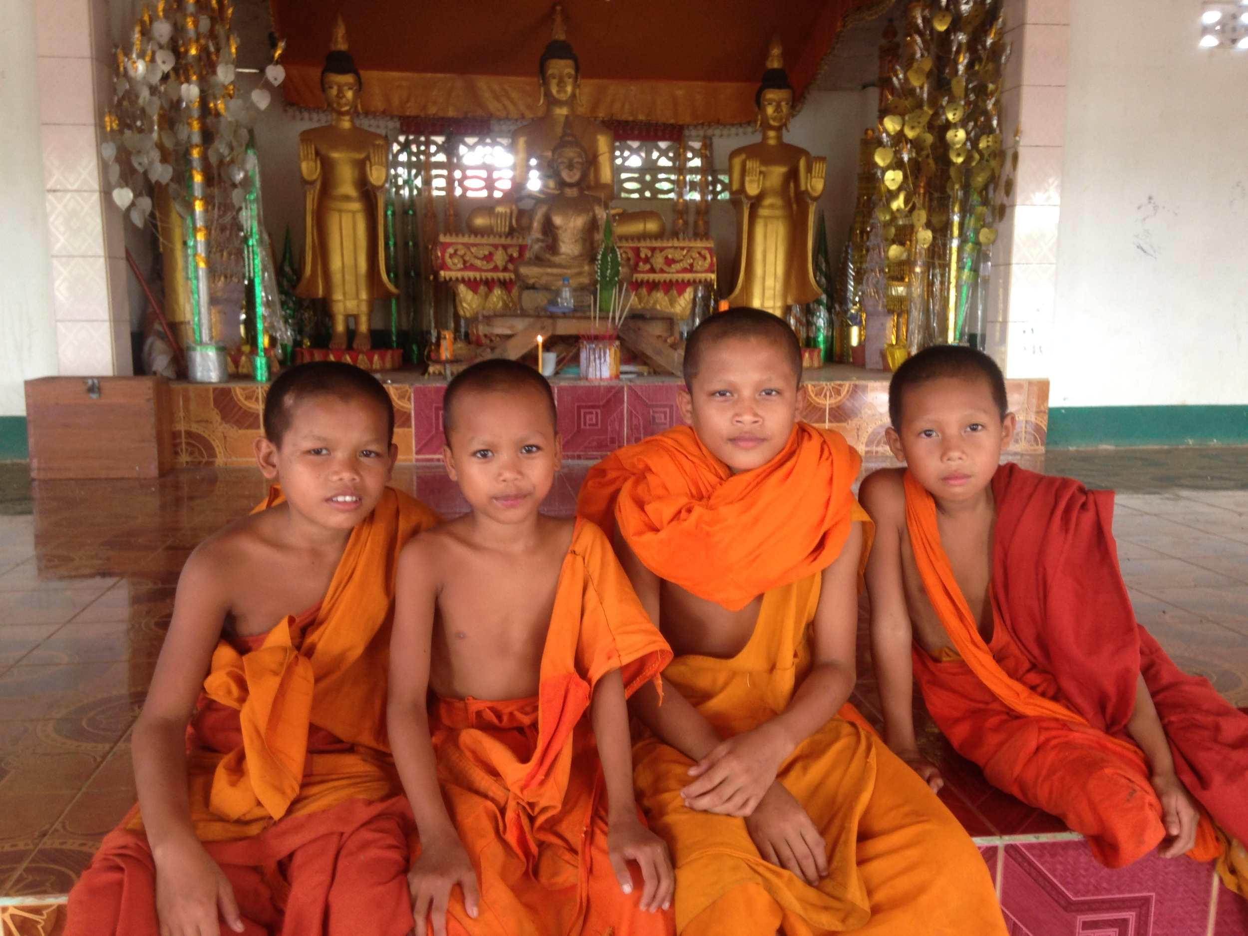 Young monks who helped me send some special prayers from the Bolaven Plateau, Laos