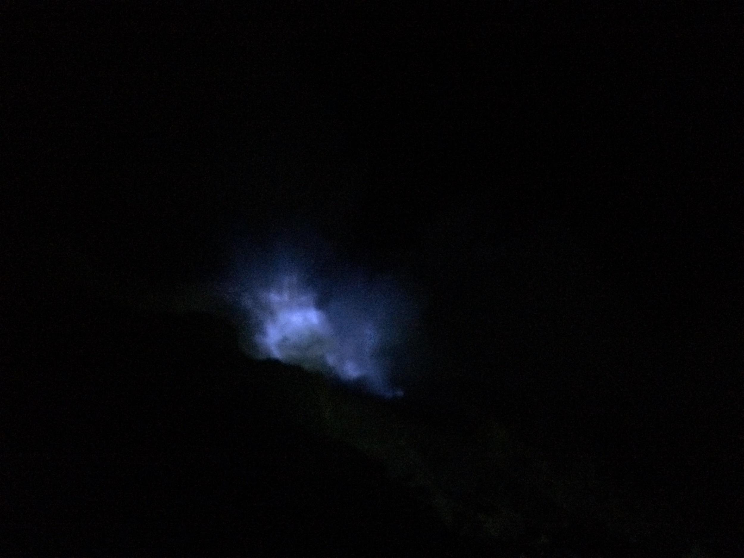 Blue fire from afar