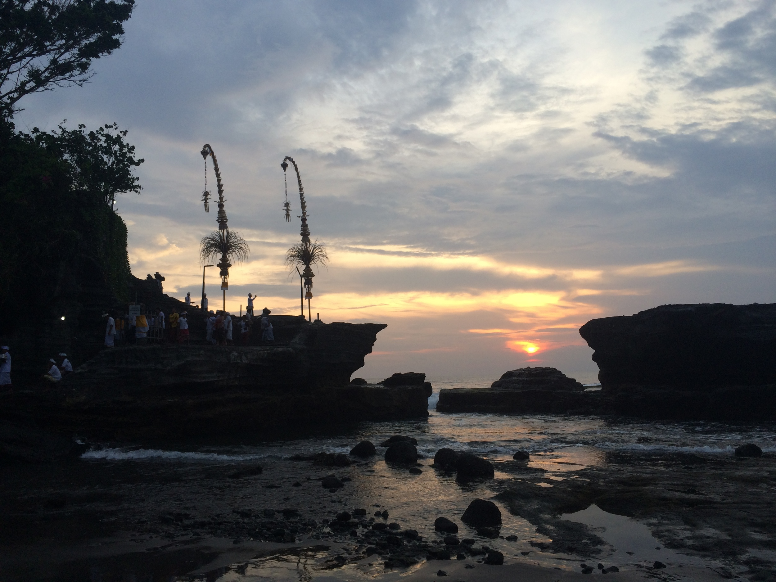 Sunset over the Tanah Lot Temple
