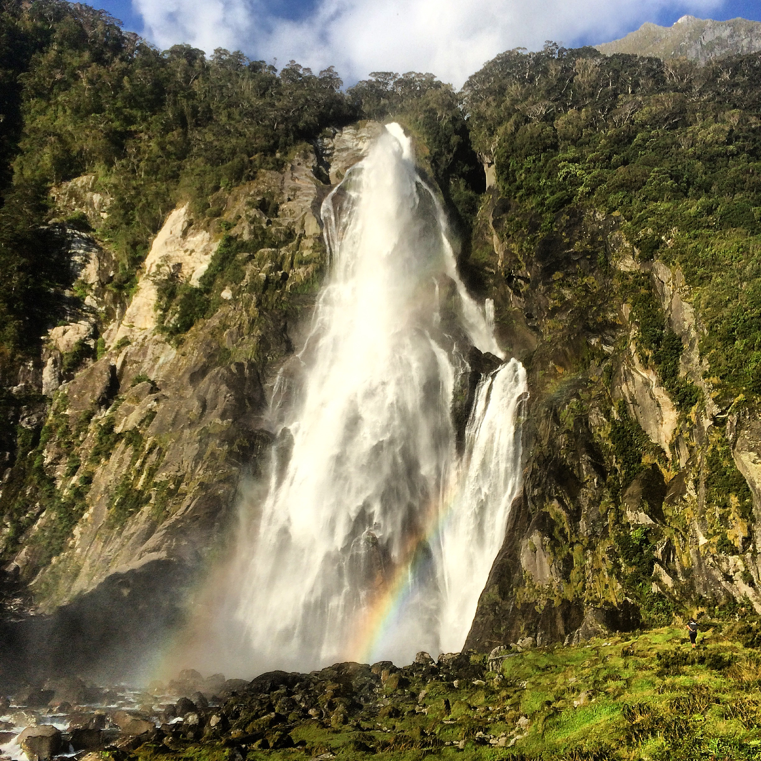 Bowen Falls at Milford Sound