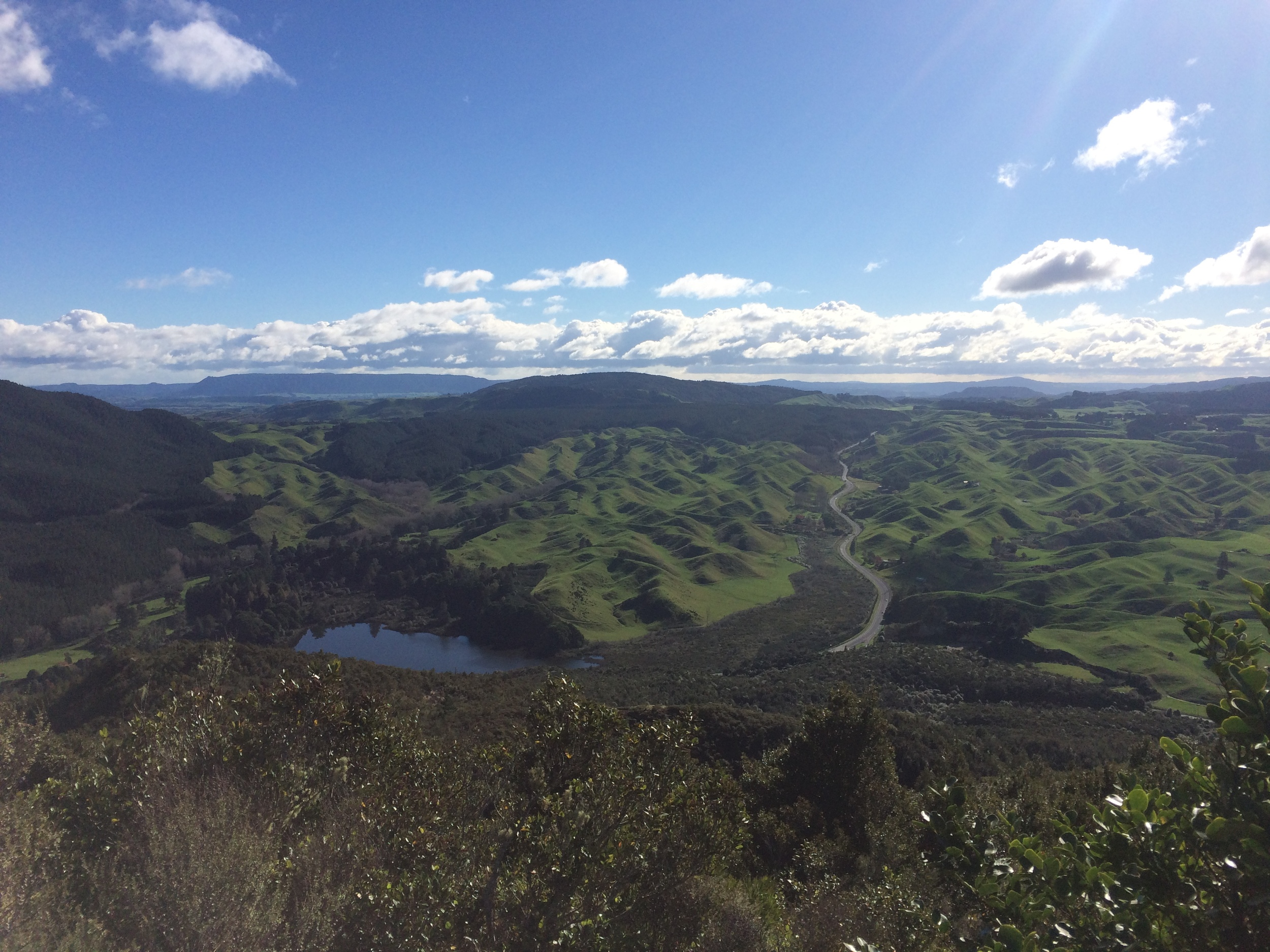 View of the Rotorua area from Rainbow Mountain