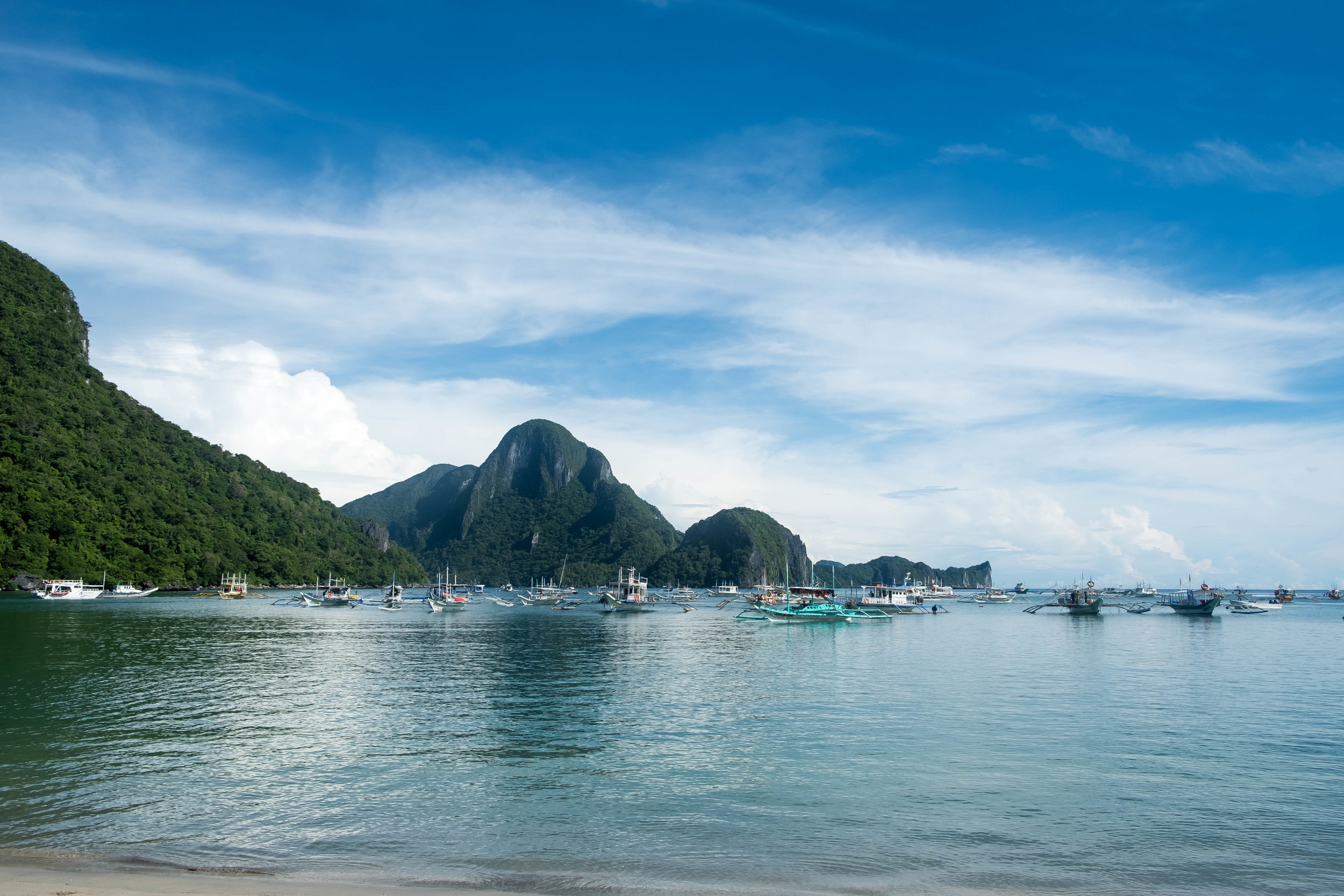 View from the beach in El Nido