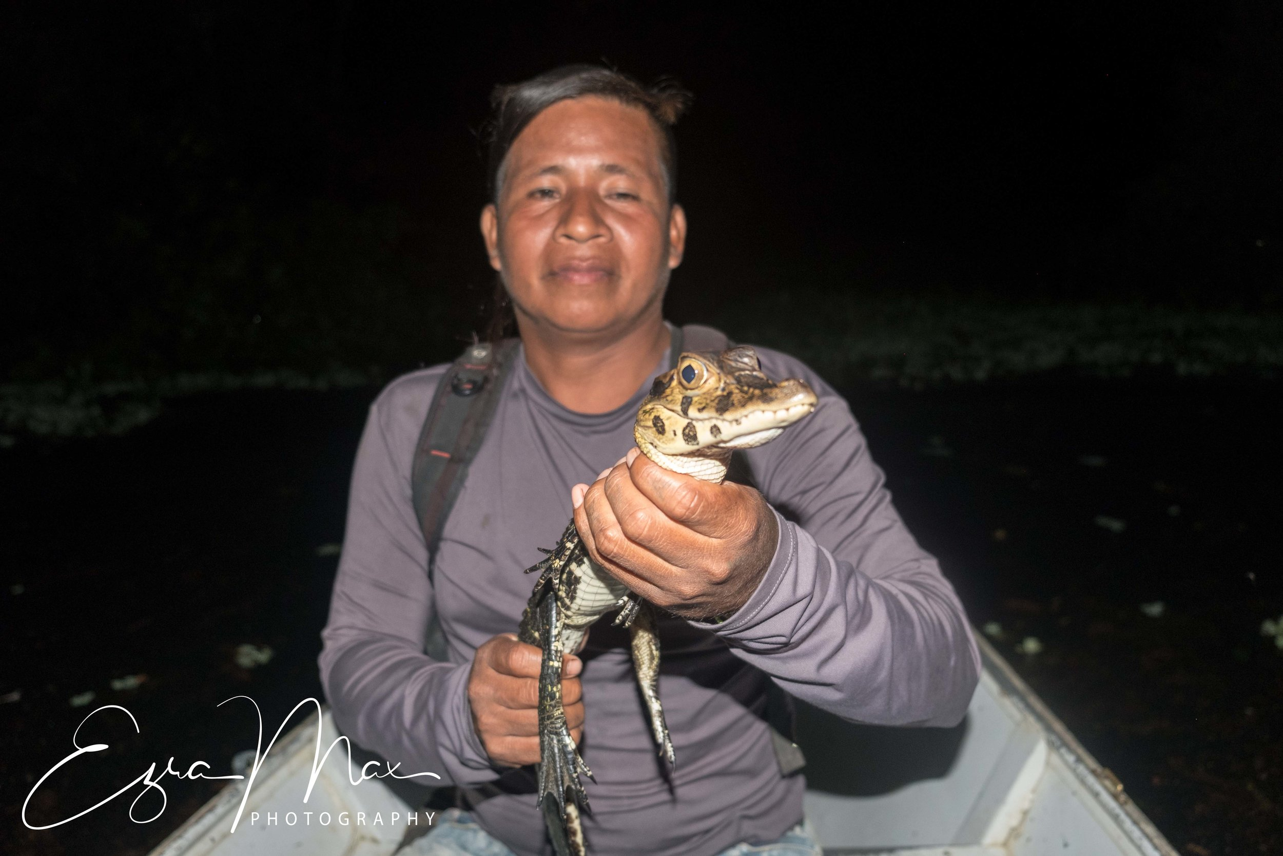 Rambo with a 1.5 year old Black Caiman