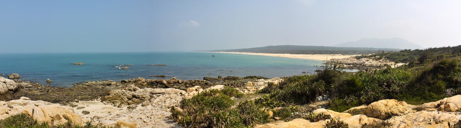 Panoramic View of Qizi Bay, Hainan Island, China