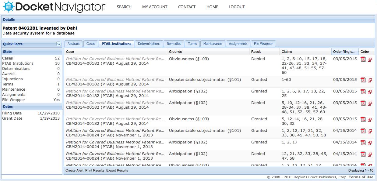 docket-navigator-ptab-filings-screen