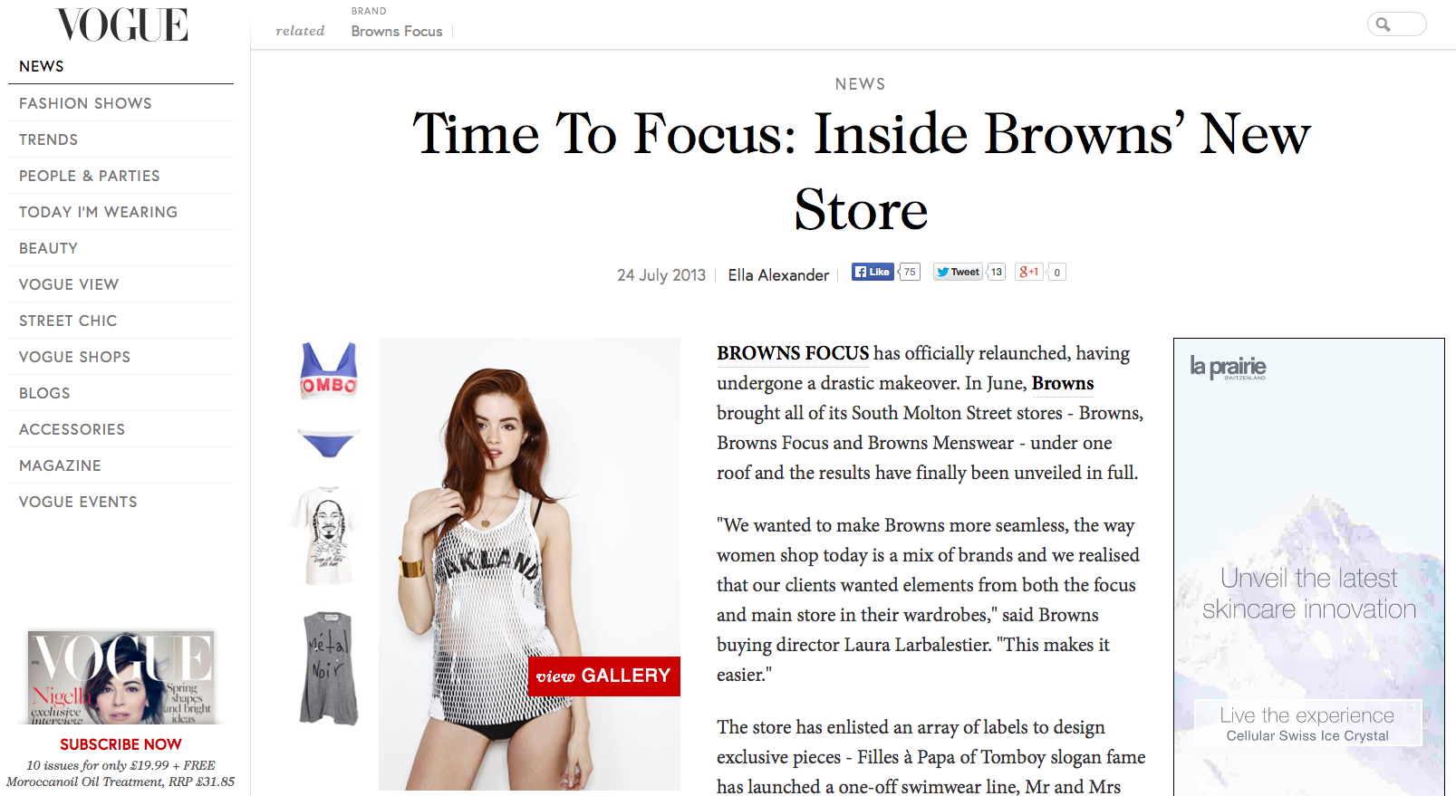 Ted's Draws featured in Vogue
