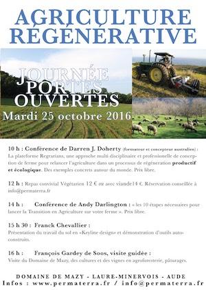 Journée portes ouvertes, Domaine de Mazy, Mardi 25 octobre 2016 - Darren Doherty, Andy Darlington, Franck Chevallier
