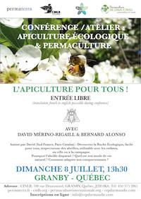 Conférence apiculture écologique Granby, Québec, juillet 2017 David Mérino-Rigaill