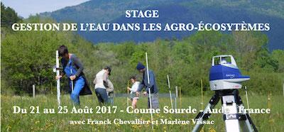 Stage gestion de l'eau - Franck Chevalier et Marlène Vissac, Coume Sourde, Août 2017