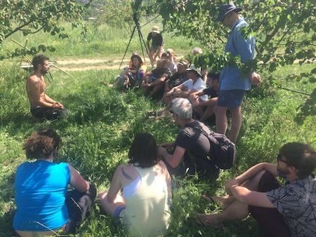 Visite des jardins de Simon Redondo Entre les Arbres, Céret