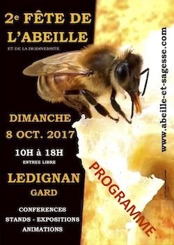 Participation à la fête de l'abeille + conférence Permaculture Lédignan