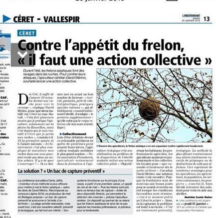 Journal l'Indépendant du 29 janvier 2019