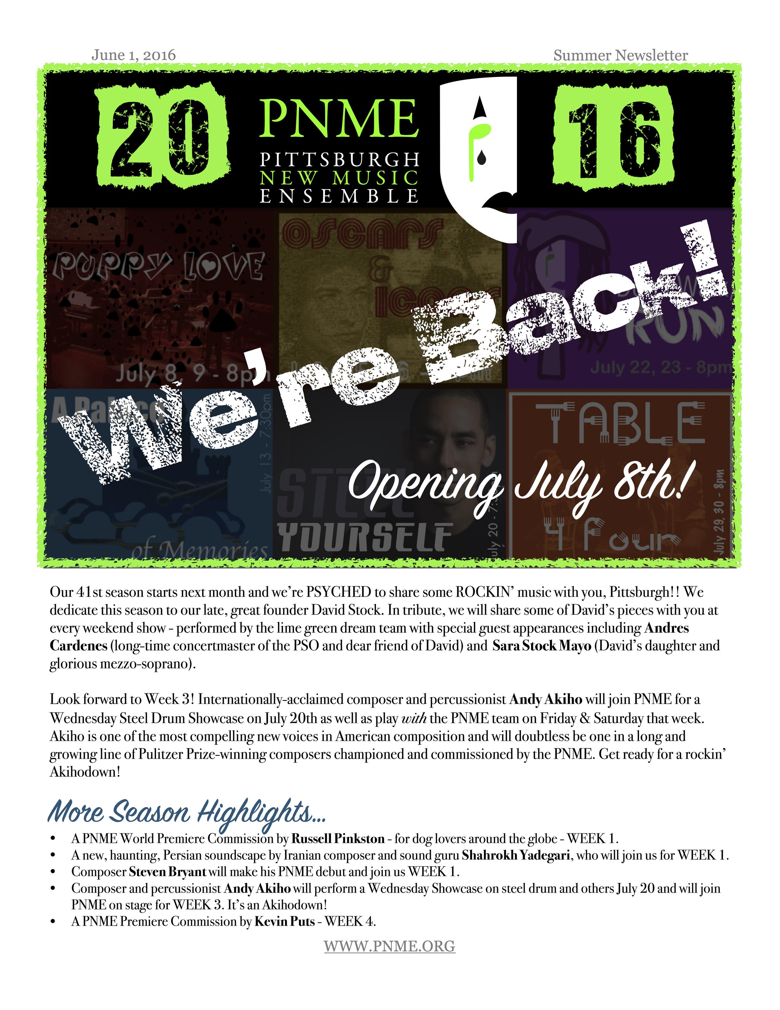 Summer Newsletter 1