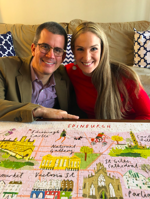 NAME 😄:Catherine & Kevin NoeRourkeLOCATION📍:Lansing, MIFINISH DATE 🧩:12/8/18COMING TO EDINBURGH? 🏴 :HELL YES 😆LIME 💚 LOVE NOTE:We can't wait to see who will join us making the Edinburgh puzzle! -