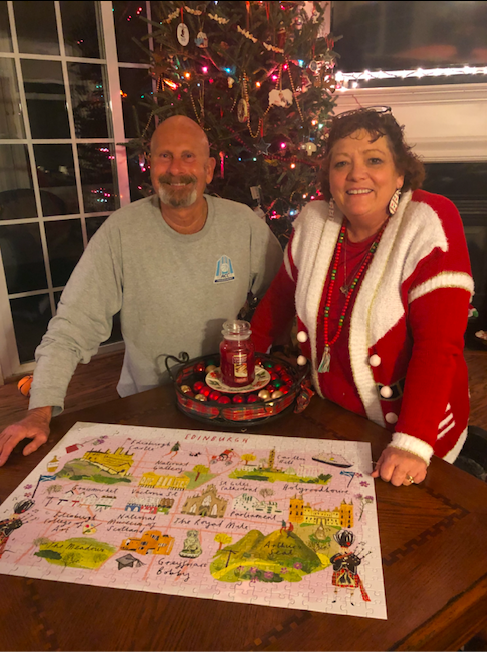 NAME 😄:Lynn & Rich MartinLOCATION📍:Charlotte, NCFINISH DATE 🧩:12/22/18COMING TO EDINBURGH? 🏴 :YES 😆LIME 💚 LOVE NOTE:This was FUN! Also, Come to Edinburgh with us! -
