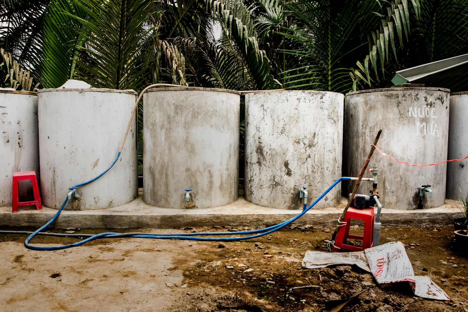 Tanks for rainwater, that when full at the end of the rainy season, are usually enough to carry the family through until it starts again. Since it's already late, and not expected for at least another month, many have depleted their stocks and now must purchase water for themselves and their animals. Those lucky enough to have a well have another option, but the wells are becoming increasing unreliable as well.