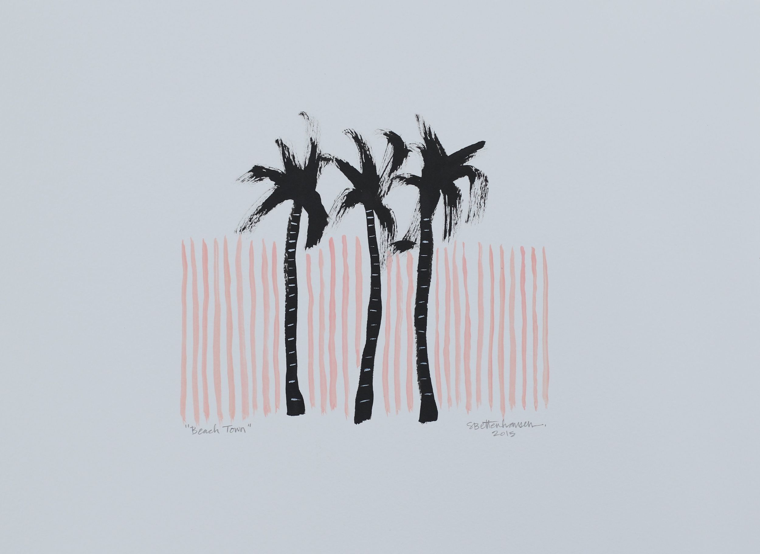 """Beach Town"" 11x15 on paper $125"