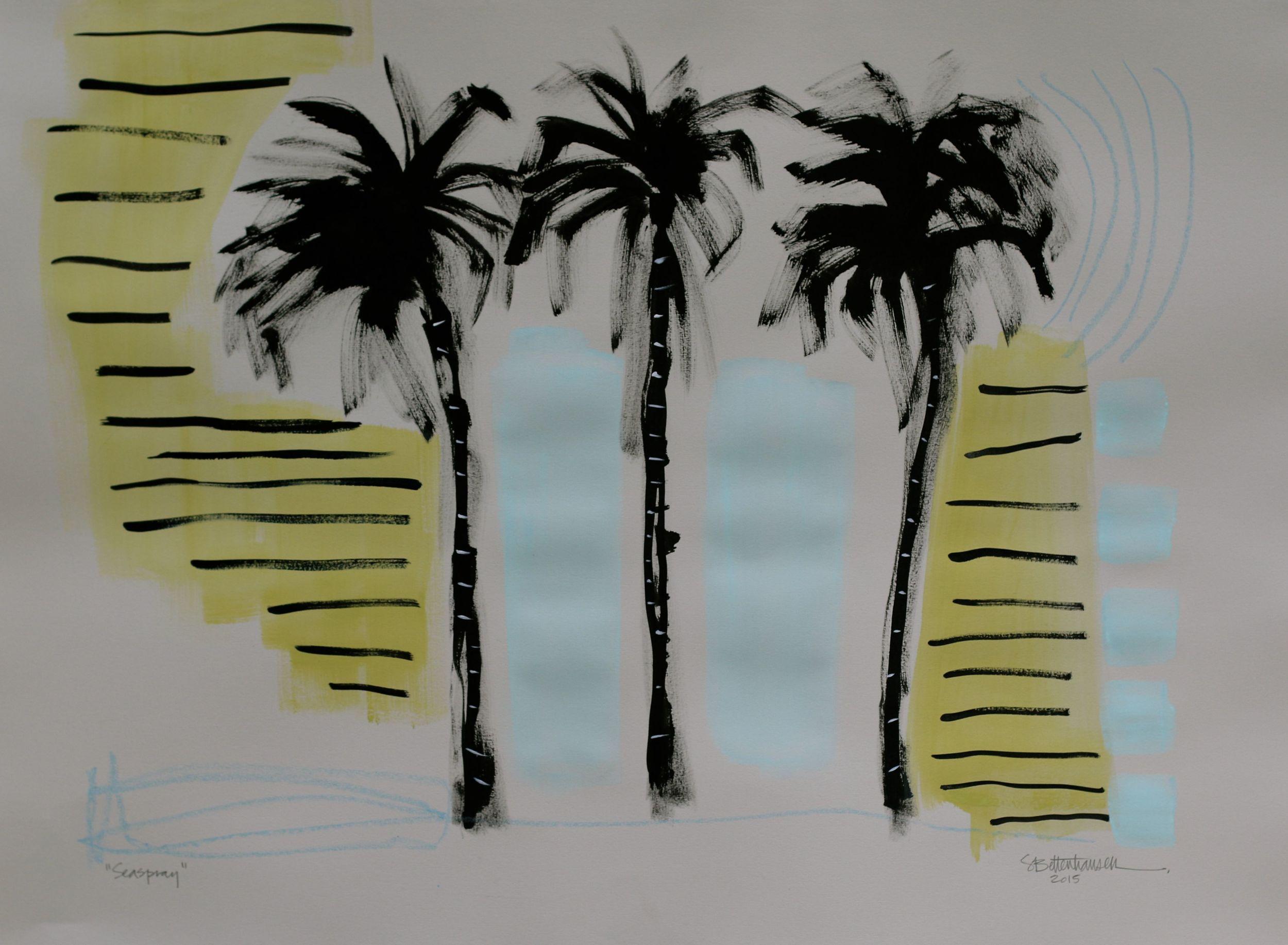 """Seaspray"" 22x30 on paper $300"