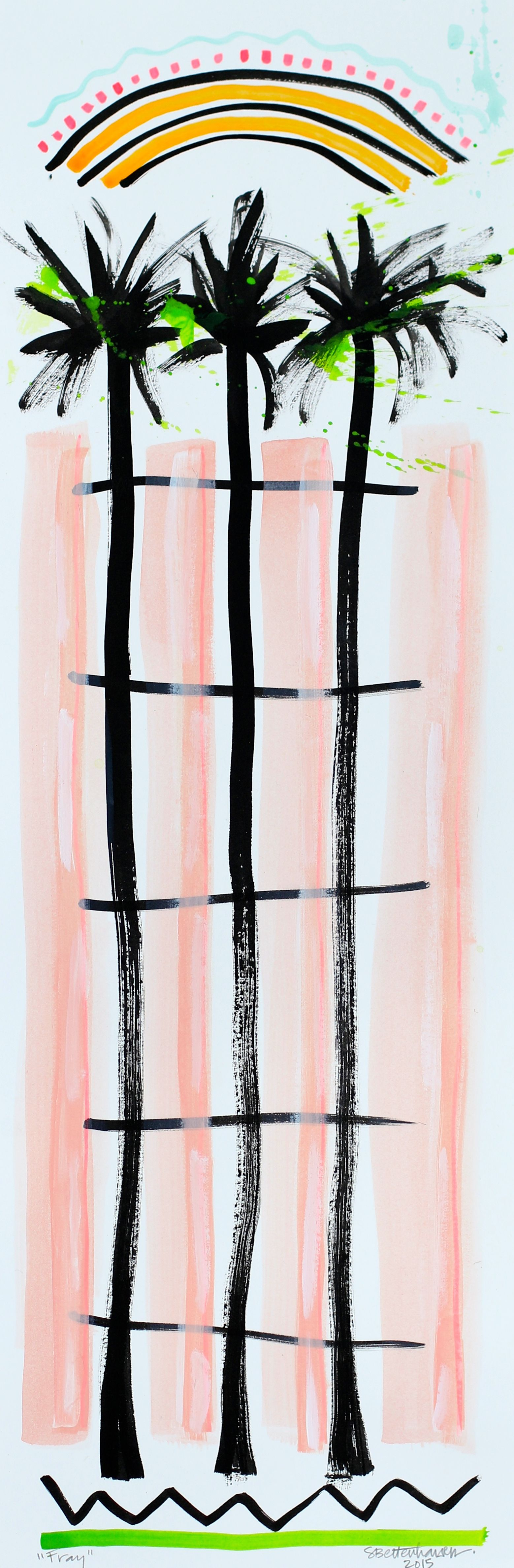 """""""Fray"""" 7.5x22.5 on paper $125"""