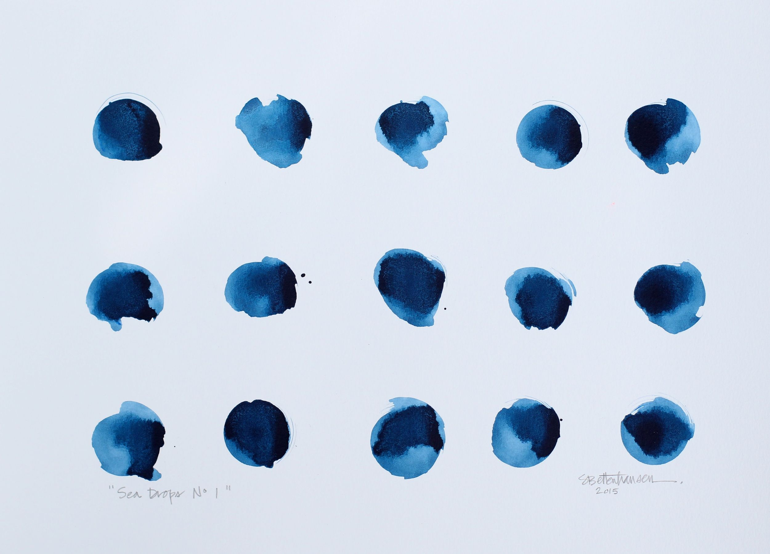 """""""Sea Drops No. 1"""" 11x15 ink on paper $135"""