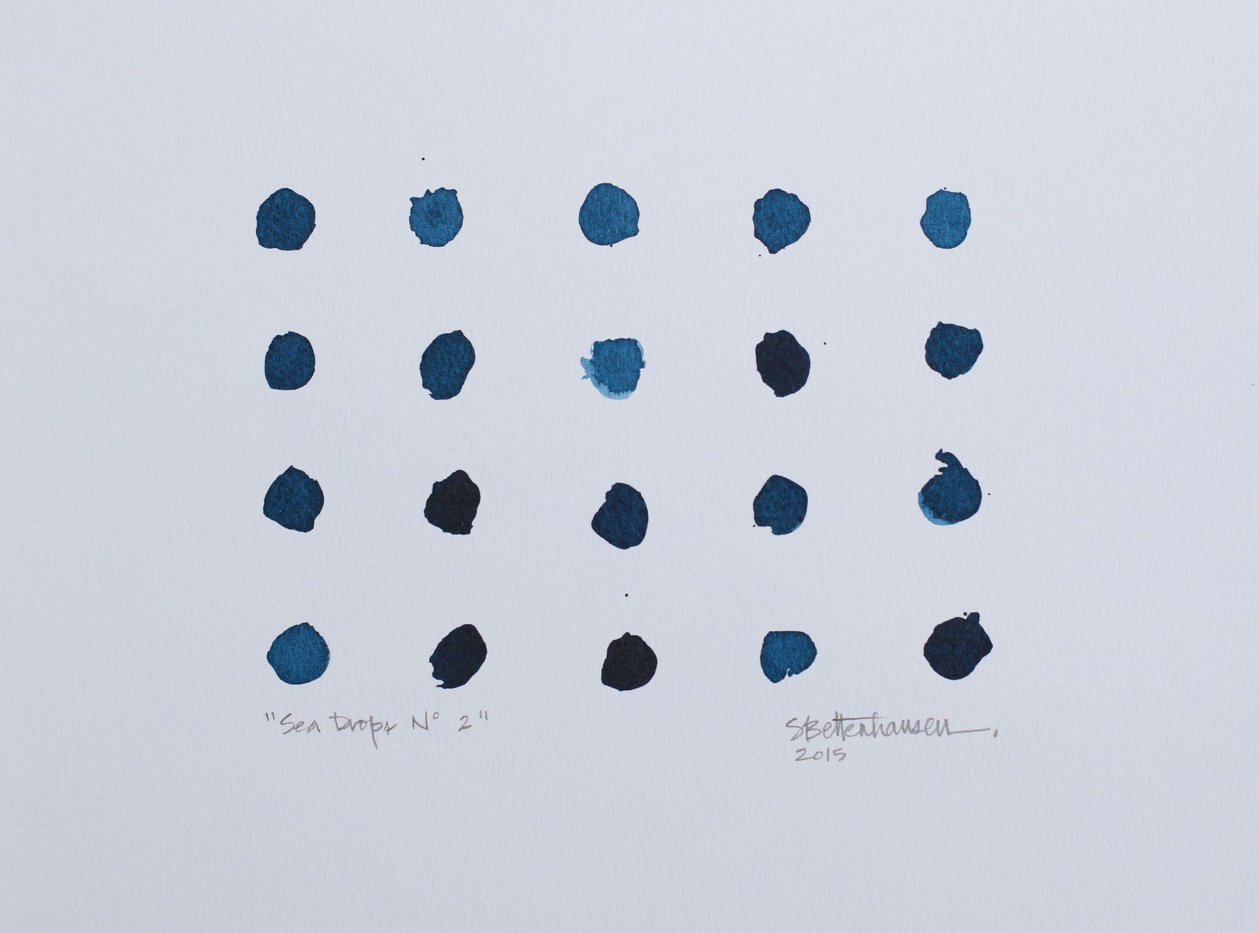 """""""Sea Drops No. 2"""" 9x12 ink on paper $100"""
