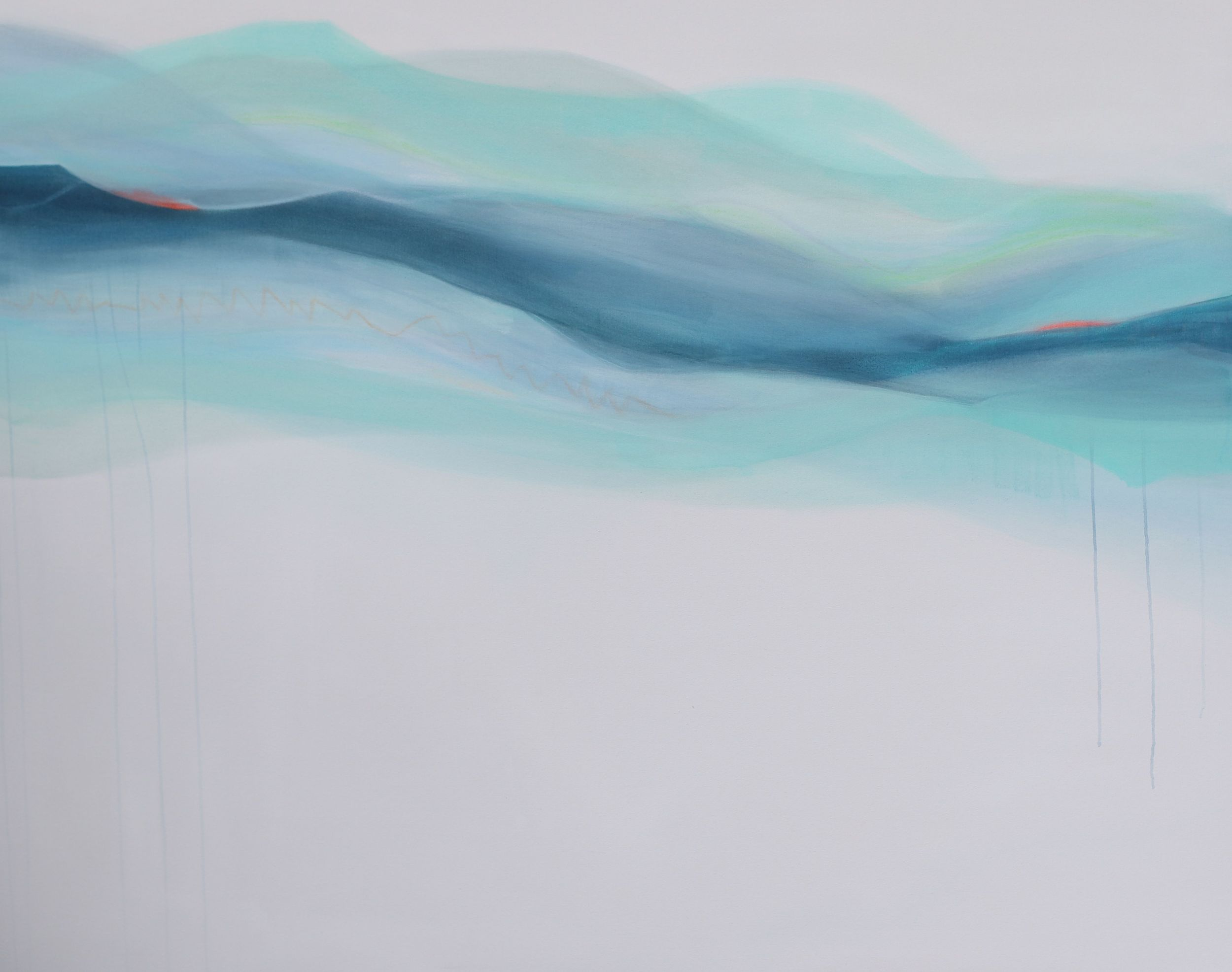 """The Barrel"" mixed media on canvas 48x60x1.5 $3000"