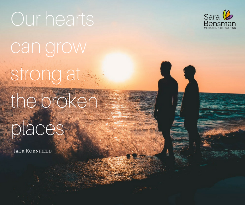 Our hearts can grow strong at the broken places