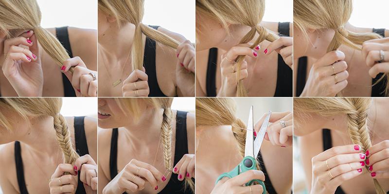 Fishtail braid in 8 easy steps