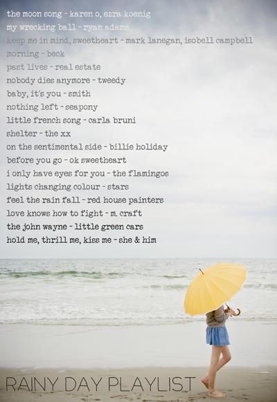 rainy day playlist - chasing saturdays