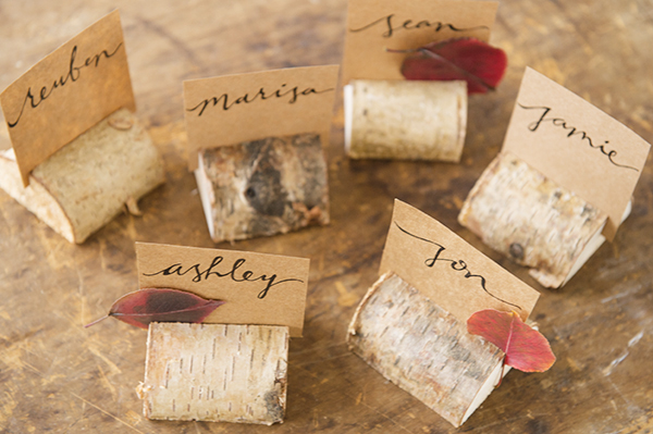 birch place card holders - chasing saturdays