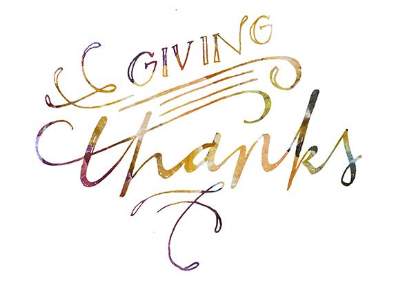 giving thanks - chasing saturdays
