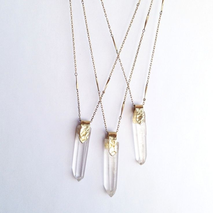 Clutched Crystal Pendant Necklace