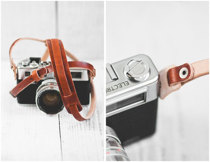 Anchor and Anvils Leather Camera Strap