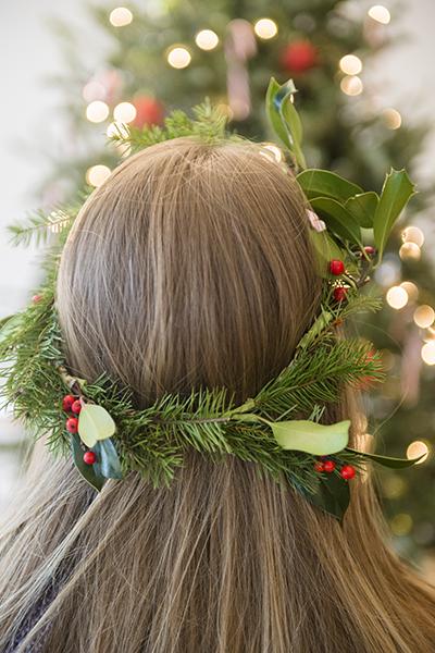 winter pine flower crown - chasing saturdays