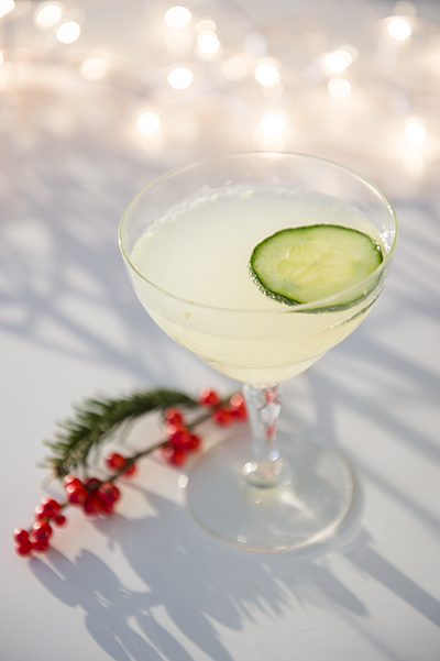 cucumber ginger cooler - mocktails to survive the holiday season pregnant - chasing saturdays