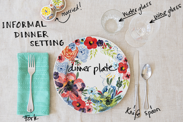 how to set a casual table - chasing saturdays