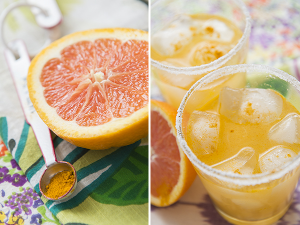 Cara Cara Margarita with Tumeric  || Resolution Cocktails - Chasing Saturdays