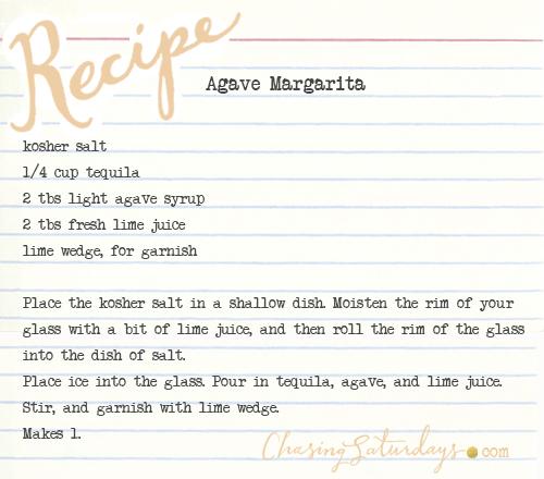 agave margaritas - chasing saturdays