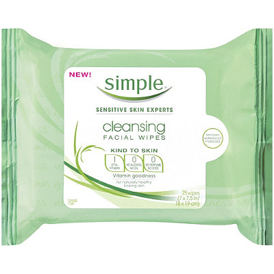 simple skincare cleansing facial wipes - chasing saturdays