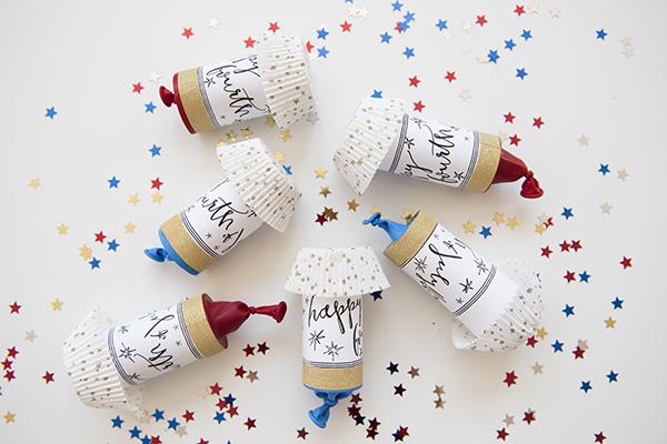 july fourth confetti poppers - chasing saturdays