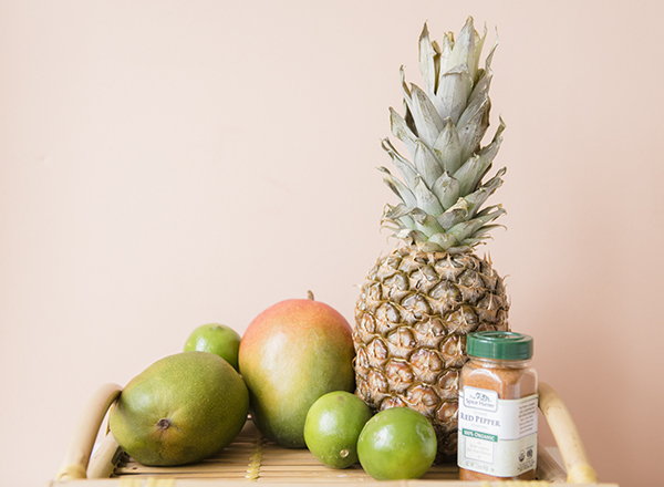 spicy mango and pineapple - chasing saturdays