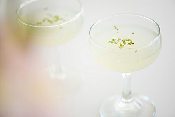basil-vodka gimlet - chasing saturdays