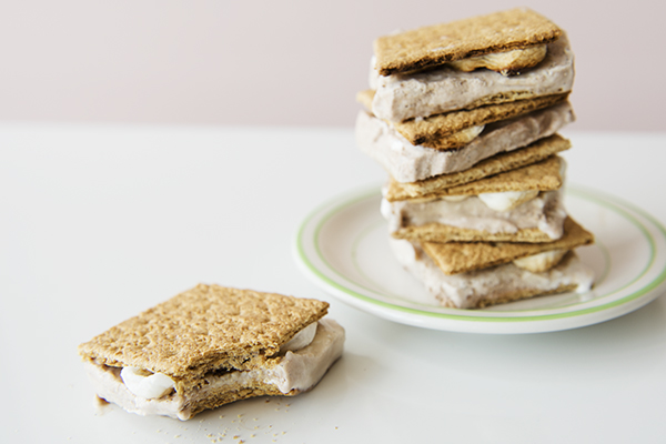 s'mores ice cream sandwiches - chasing saturdays