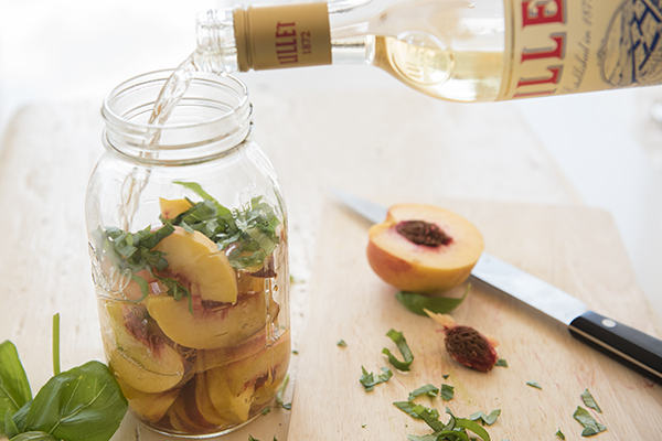 lillet and peaches - chasing saturdays