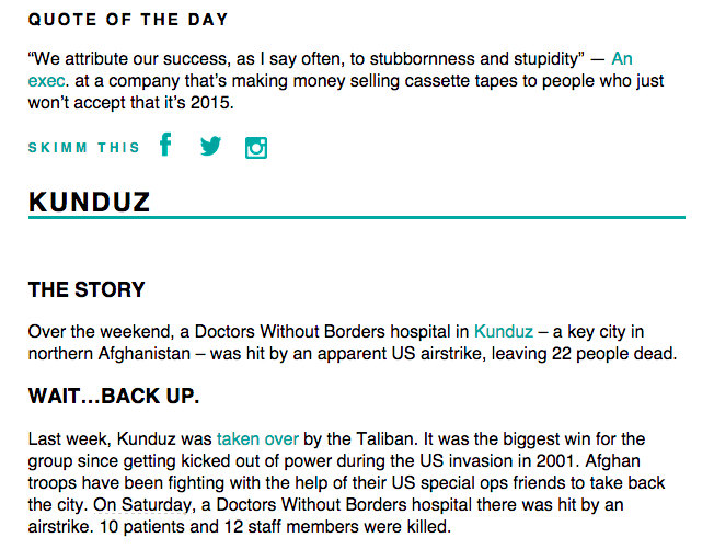 theSkimm - yes, please - chasing saturdays