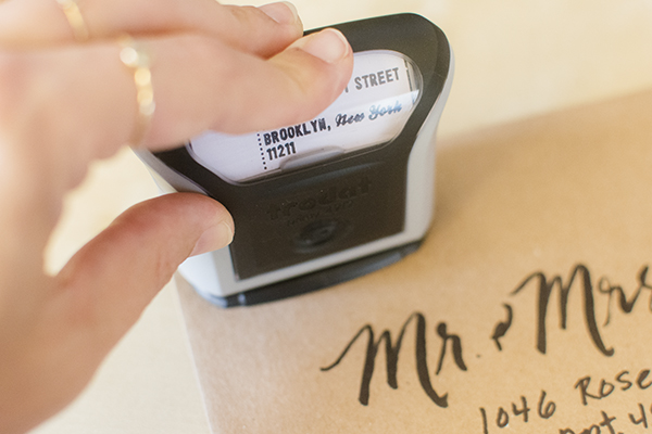 return address stamps - chasing saturdays